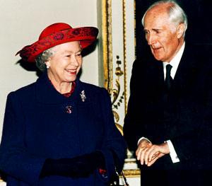 David Wills and Queen Elizabeth II